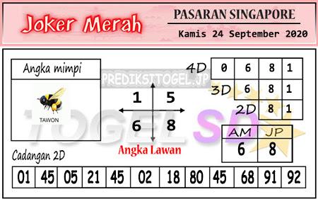 Pred Joker Merah SGP Kamis 24 September 2020