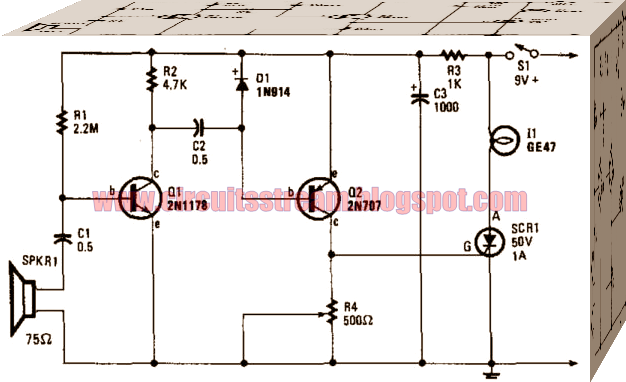 Simple Sound Operated Switch Circuit Diagram