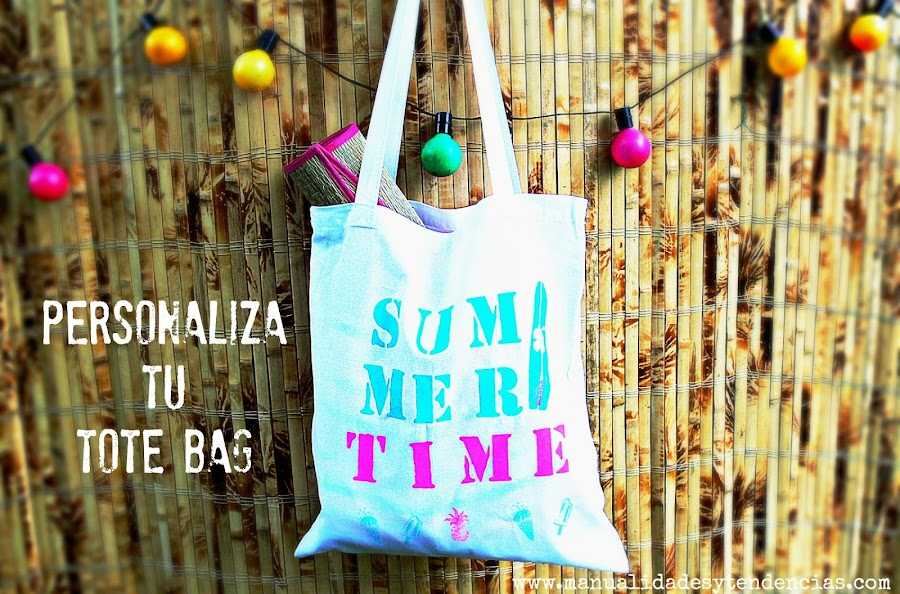Customiza tu tote bag con pintura textil