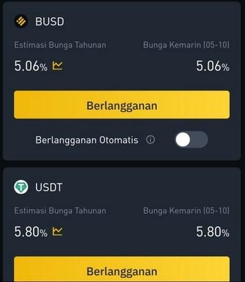 Stablecoin BUSD dan USDT