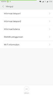 tampilan menguji pada smartphone android xiaomi redmi note 2