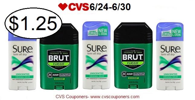 http://www.cvscouponers.com/2018/06/score-sure-or-brut-deodorant-only-125.html