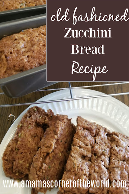 Pinnable Image for basic, old fashioned zucchini bread