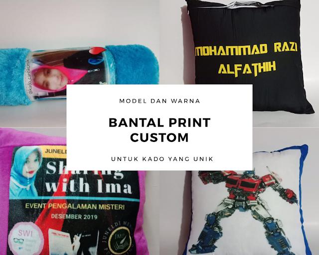 Bantal print