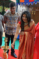 Sakshi Agarwal  in Orange Saree at Inauguration of Handloom And Handicraft exhibition ~  Exclusive 20.JPG