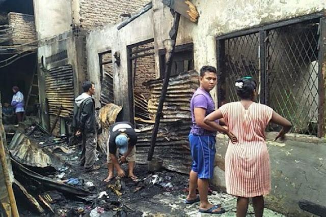 Kebakaran Hebat Landa Permukiman di Medan, 22 Rumah Ludes Terbakar