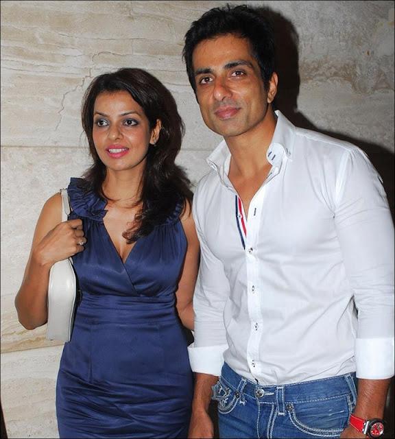 Sonali Sood with Sonu Sood