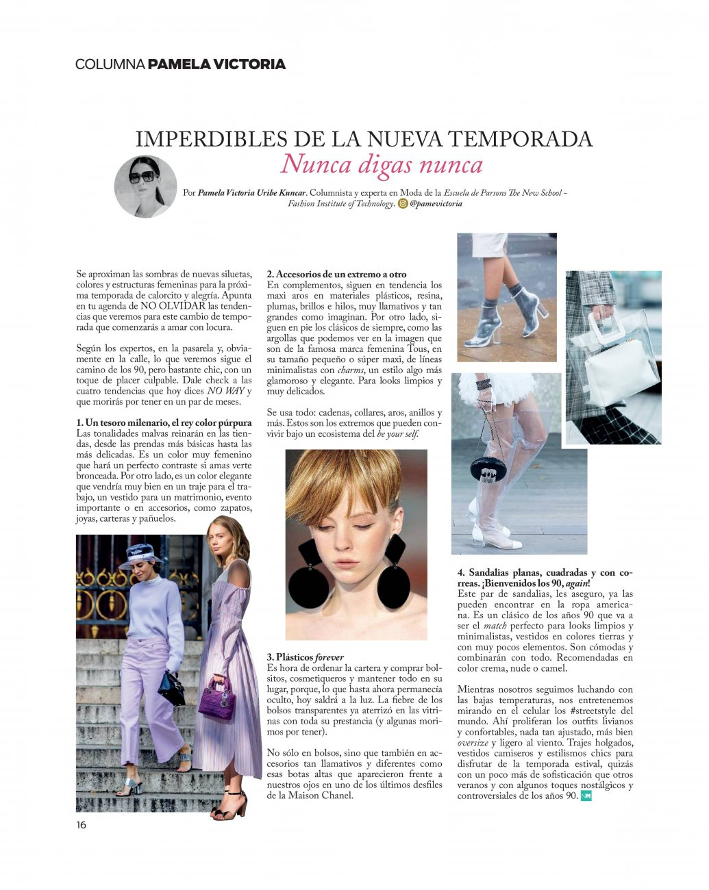 pamela victoria experta en moda en chile - pamela victoria columnista especialista de moda en chile