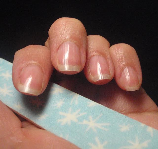 shiny buffed nails