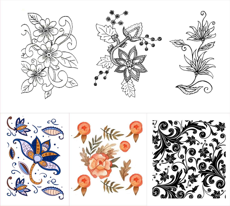 Ragam Hias Flora Dan Fauna Geometris Figuratif Beserta Contoh Gambarnya Seni Budayaku