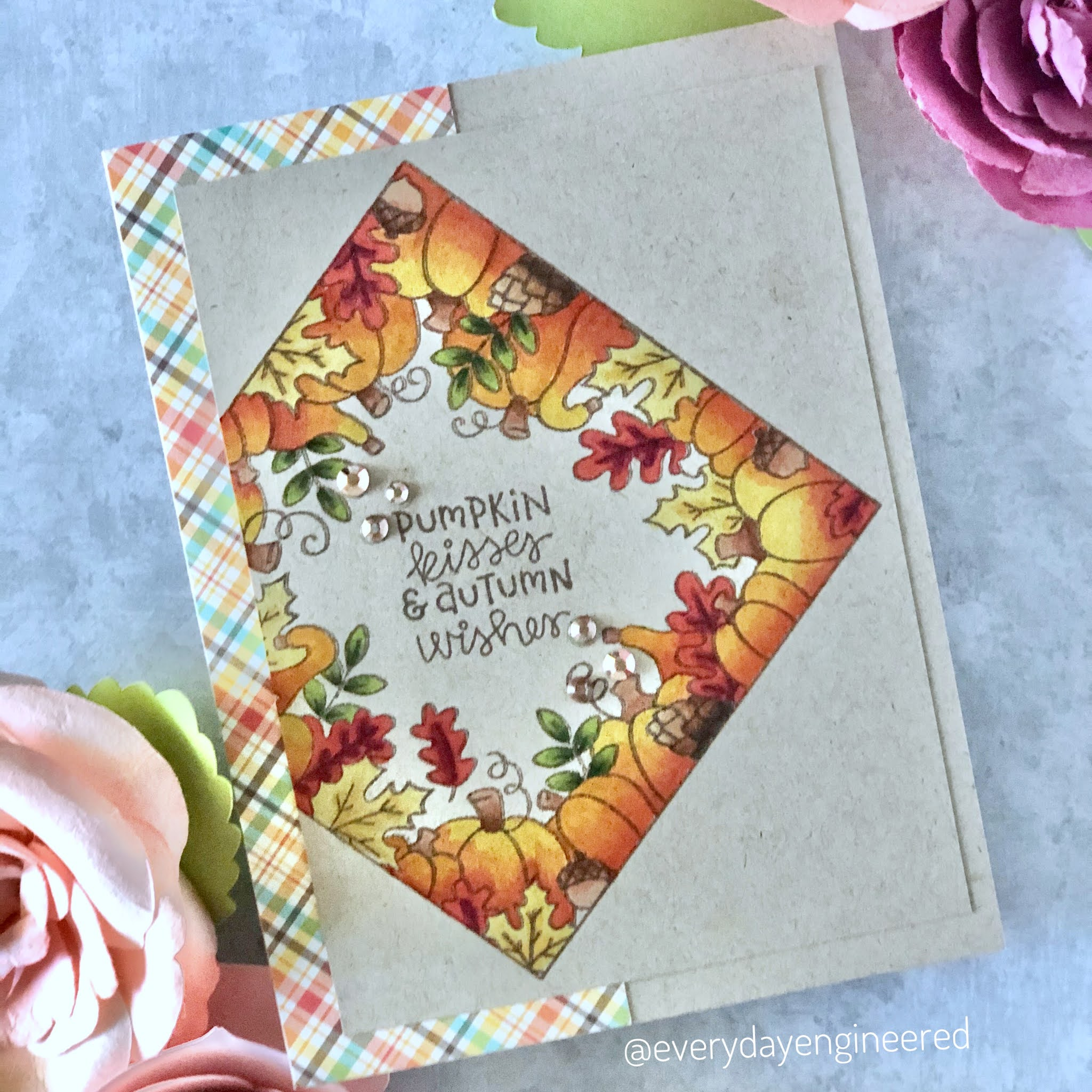 Fall Card Duo by October Guest Designer Farhana | Fall Fringe and Fall Roundabout Stamp Sets by Newton's Nook Designs #newtonsnook