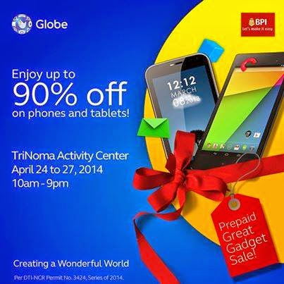 Globe Prepaid On-the-Go Great Gadget Sale