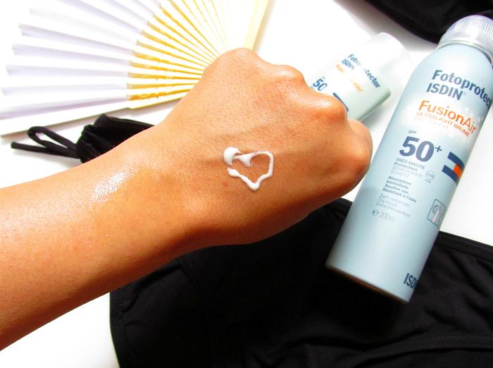 365 Tage Sonnenschutz ISDIN Fotoprotector Fusion Air Dry Touch Spray LSF50+ für den Körper, Review, Erfahrungen