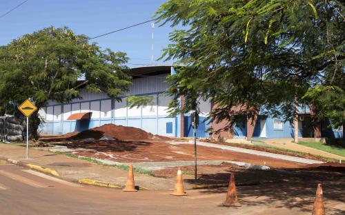 Obras no entorno do Ginásio de Esportes Euzébio Garcia são iniciadas