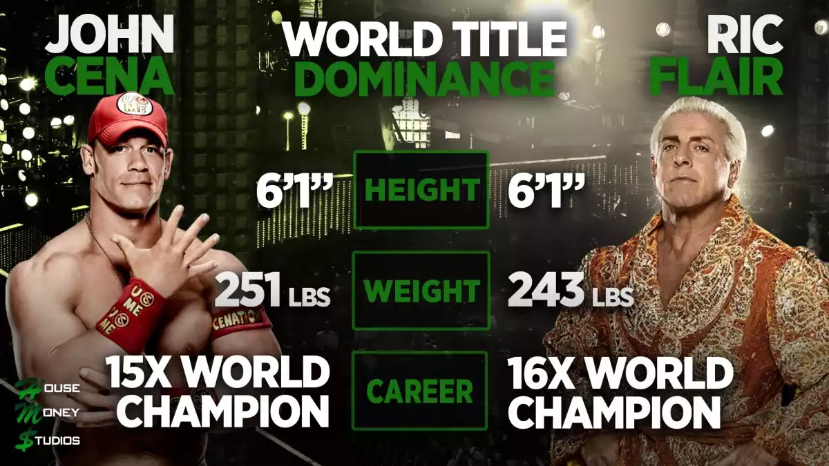 should john cena tie ric flair with 16 world championships