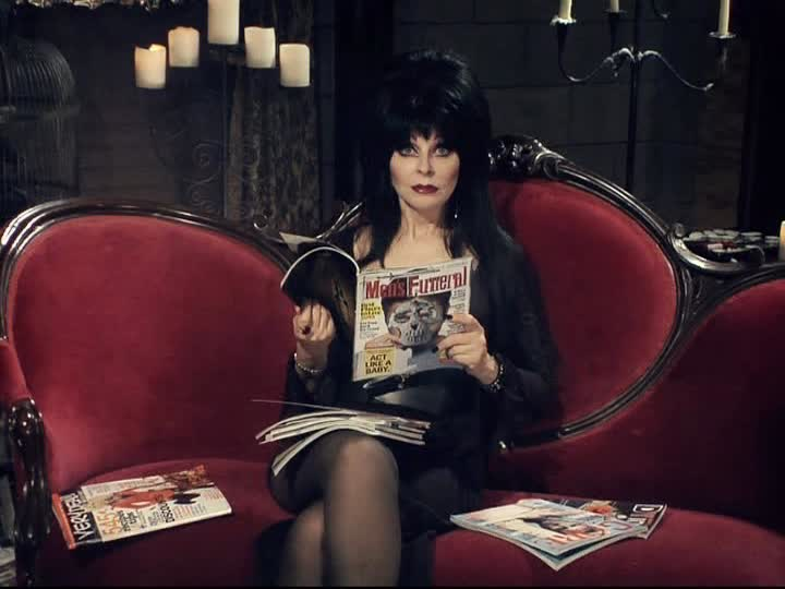 The hollies long cool woman in a black dress and elvira mysteries of the dark