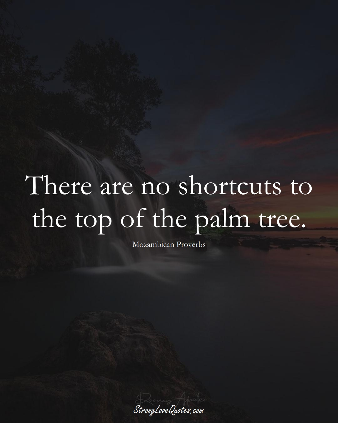 There are no shortcuts to the top of the palm tree. (Mozambican Sayings);  #AfricanSayings