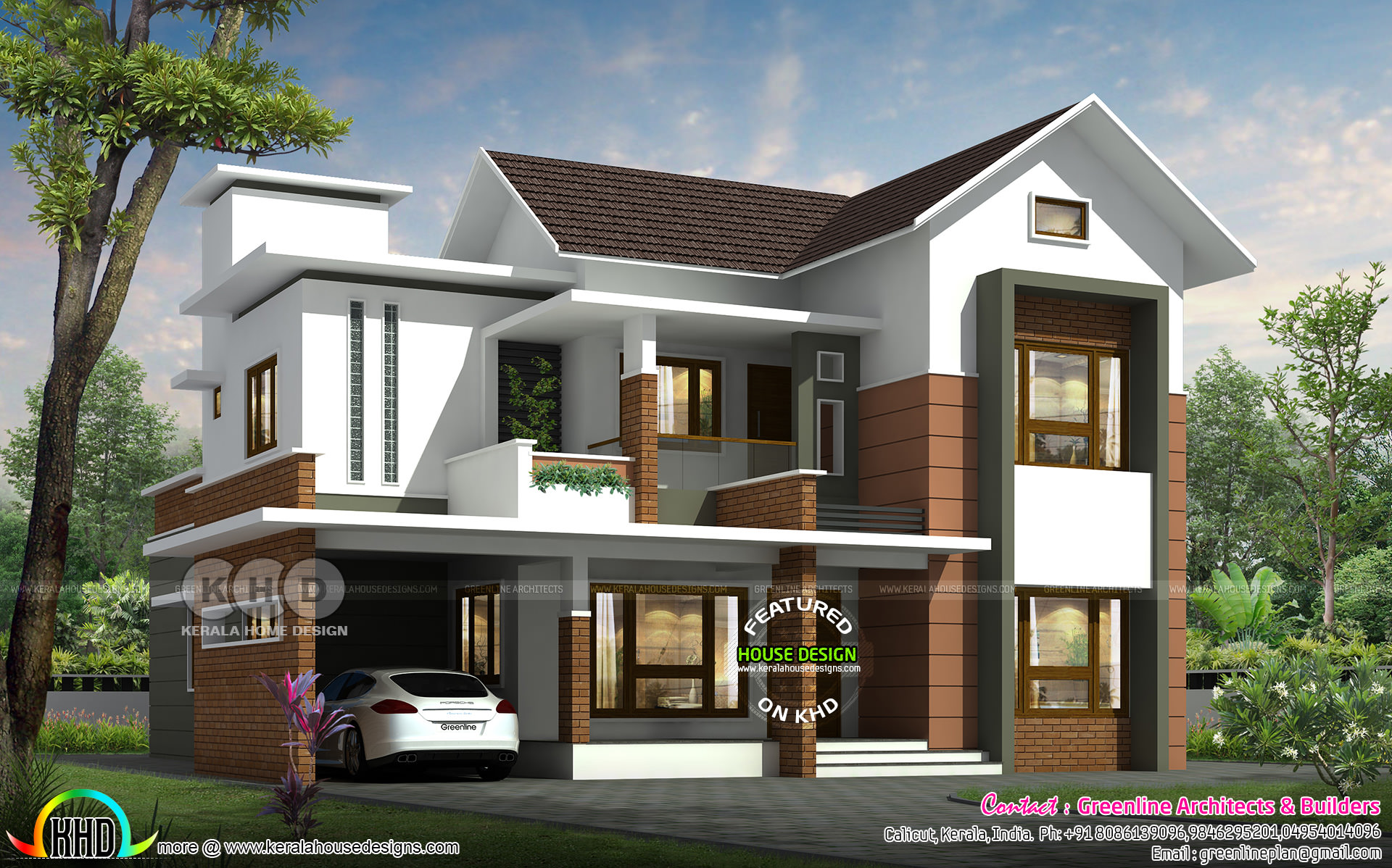 2550 Sq Ft 4 Bedroom Mixed Roof Contemporary Home Kerala Home Design Bloglovin