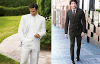 white groom buttons