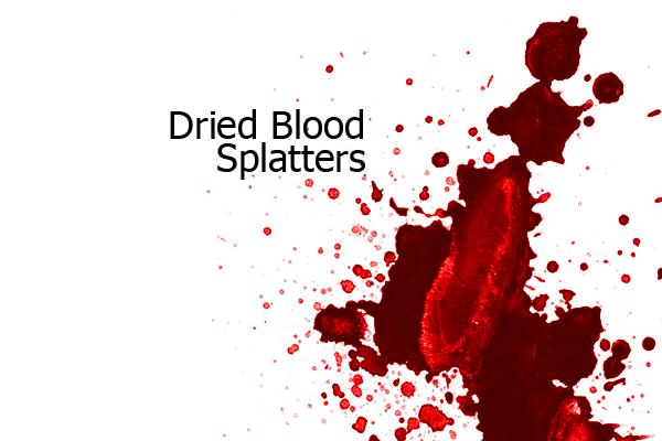 Кисти Photoshop: Брызги засохшей крови