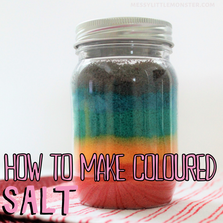How to make rainbow coloured salt - the easy way!