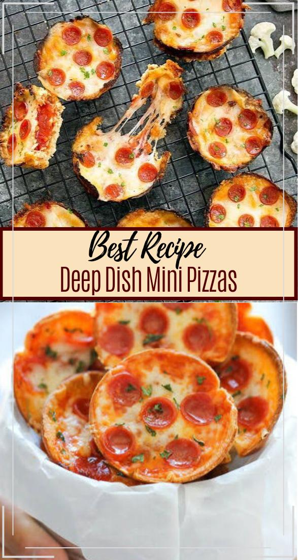 Deep Dish Mini Pizzas #dinnerrecipe #food #amazingrecipe #easyrecipe