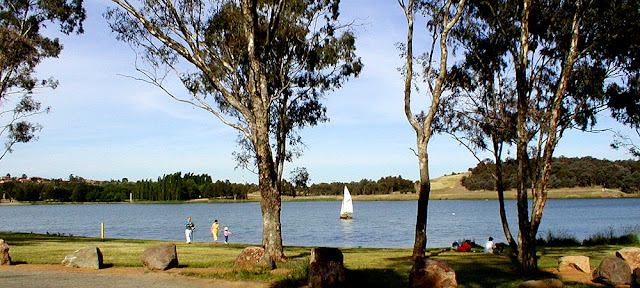 Sailing on Lake Burley Griffin. Canberra. Australia. Photo by Loire Valley Time Travel.
