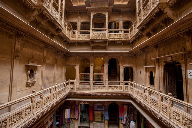 Patwon Ki Haveli in Jaisalmer - One of the largest havelis in Rajasthan