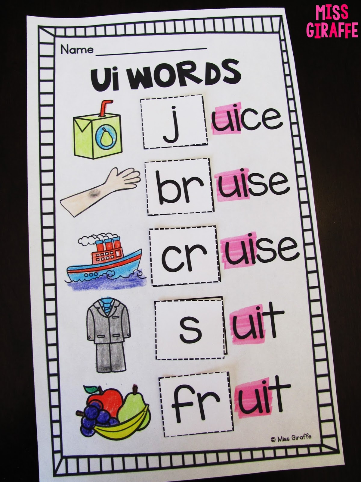 small resolution of Miss Giraffe's Class: EW UE UI Activities
