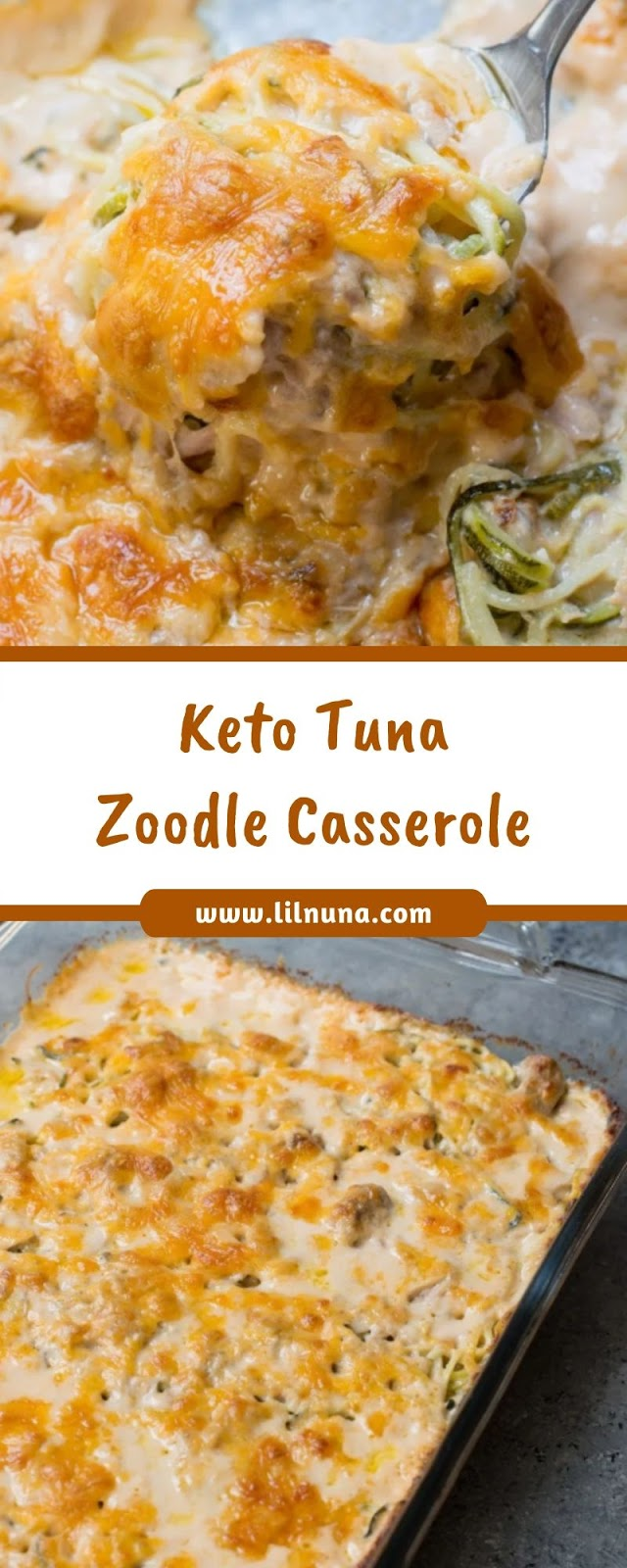 Keto Tuna Zoodle Casserole
