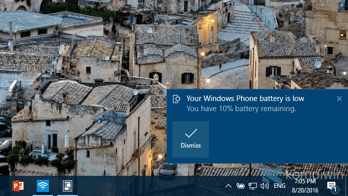 batrai lemah windows 10 pc