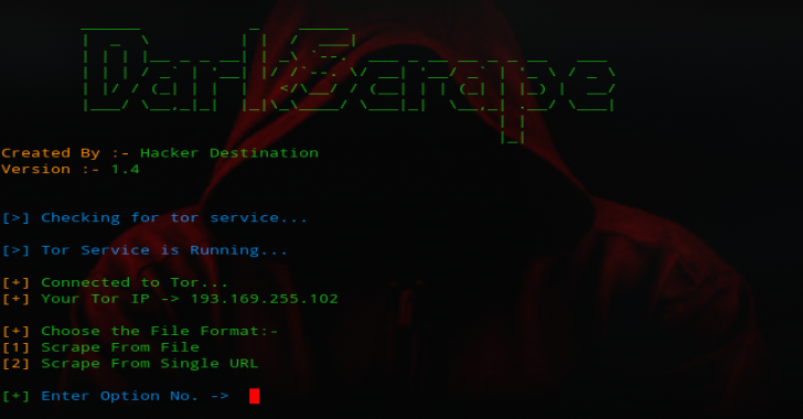 DarkScrape :  OSINT Tool For Scraping Dark Websites