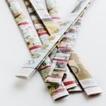 Easy-Weave Newsprint Basket - Step 1