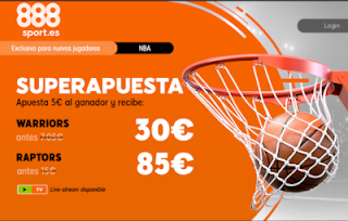 888sport superapuesta final nba warriors vs raptors 6 junio 2019