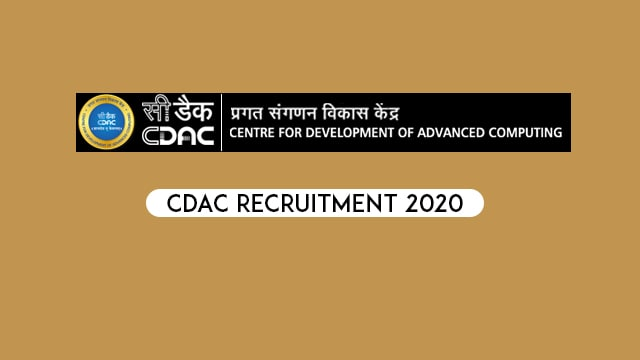 CDAC Recruitment 2020: 139 Posts of Project Engineer, Project Support Staff Posts at Pune/Delhi