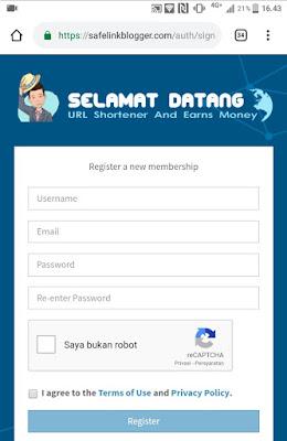 Bagaimana Cara Mendaftar Di Safelinkblogger.com