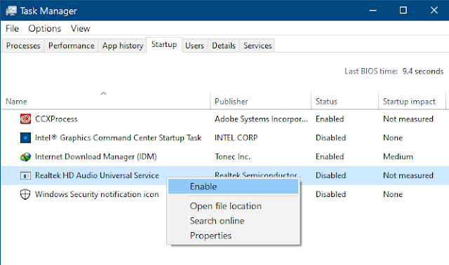 Aktifkan Auto-start di Task Manager