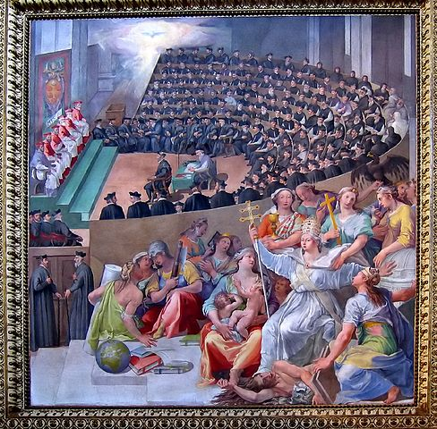 Council of Trent by Pasquale Cati 1588
