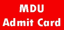 MDU Rohtak Admit Card