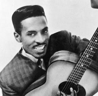 Picture of Linda's father Ike Turner with guitar