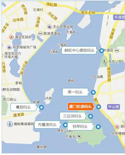 廈門碼頭位置地圖