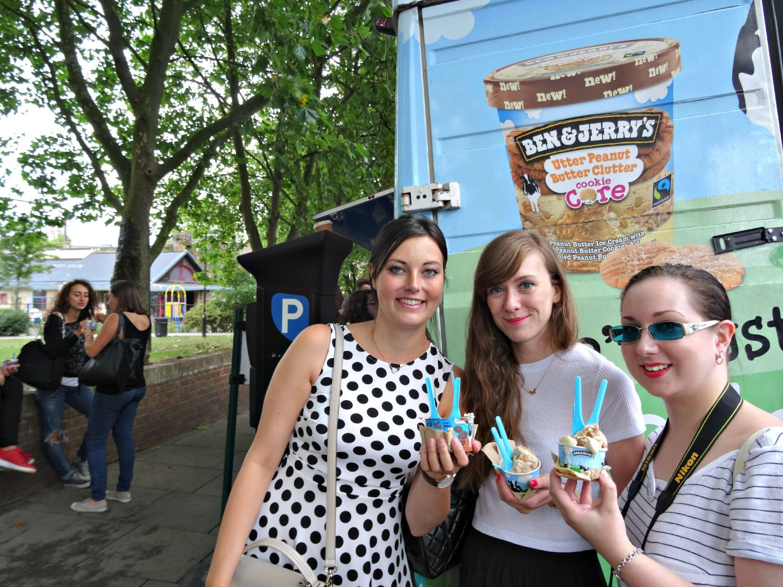 ben and jerrys ice cream van in Camden