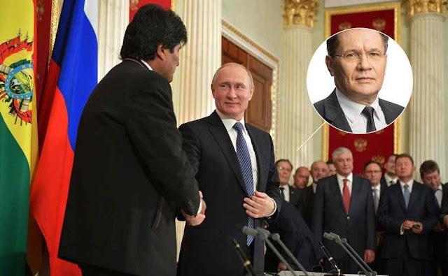 Chefe da Rosatom, Alexey Likhachev, prometeu usina atômica a Bolívia e Rússia foi dominando a Evo Morales