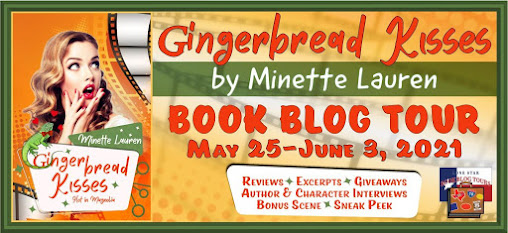 Gingerbread Kisses book blog tour promotion banner