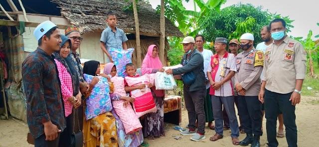 Gemantara Aceh Utara, CLR, Acheh Funture dan Geubibu Bantu 5 Anak Yatim di Aceh Timur