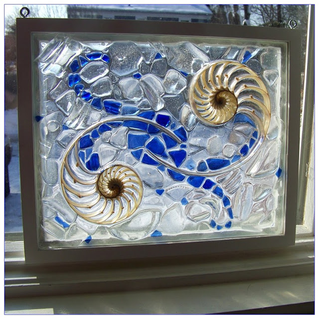 Sea Glass WINDOW Mosaic