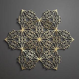 تحميل باترن إسلامي ثلاثي الأبعاد باللون الذهبي 1