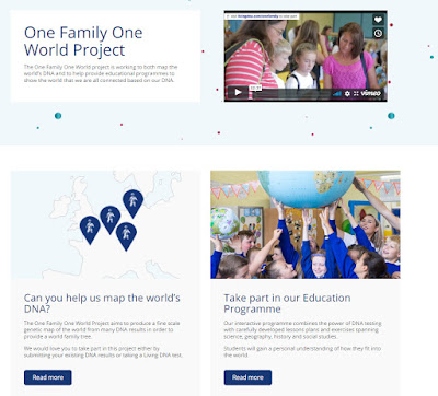 Living DNA updates - free transfers and the launch of the One Family One World project
