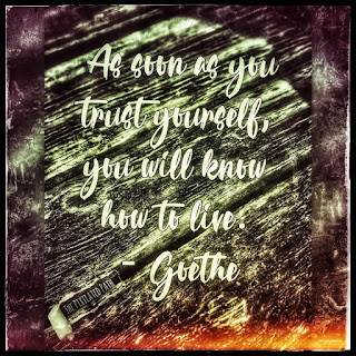 As soon as you trust yourself you will know how to live. Goethe