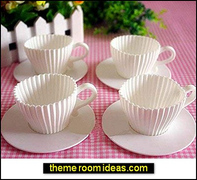 Teacup Cupcake Molds tea party decorations garden party cupcakes